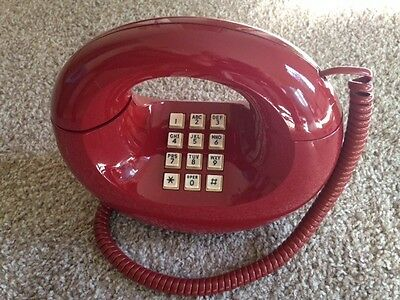 Western Electric Sculptura Donut Phone, Red, Professionally Refurbished, Push