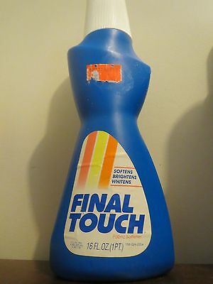 Vintage Final Touch by Lever brothers fabric softener 16 oz FULL