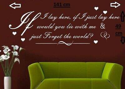 Graphic b15 Decal IF I LAY HERE SNOW PATROL Wall Art Sticker