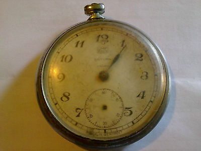 Old Pocket Watch Umf Ruhla Saturn Made In Germany