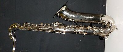 Vintage Nickle silver plated Tenor saxophone
