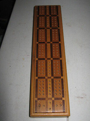Vintage Horn McCrillis Cribbage Board #280 NO Pegs Wood Wooden Made in USA