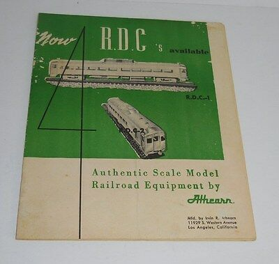 1954 R.d.c. Athearn Scale Model Trains & Buildings Catalog Neat!