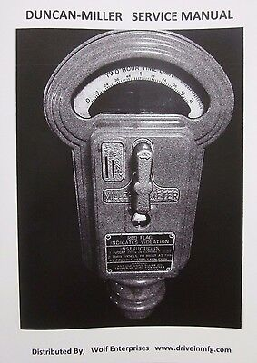Duncan Miller Model 50 Parking Meter Service Manual, 28 pages