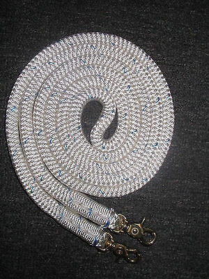 Finesse Clip On Rope Reins White Professional Rope  Your choice of length & clip