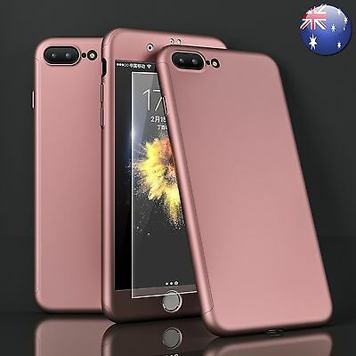 Hybrid 360° Shock Proof Case + Tempered Glass Cover For Apple iPhone 6 6s 7 Plus