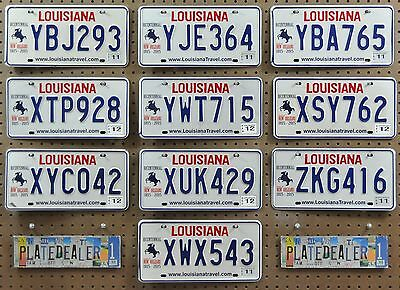 10 LOUISIANA New Orleans Bicentennial License Plates Tags Signs GENERIC BULK LOT