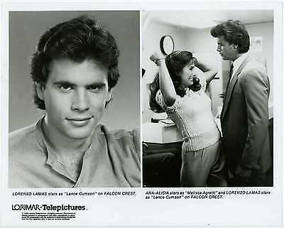 Falcon Crest 1986 Original Lorimar TV Press Photo Lorenzo Lamas Ana-Alicia
