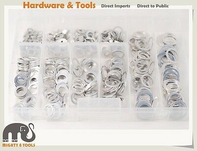 6-20mm 10 Size 500pc Aluminium Gasket Washer Assortment Oil Sump Plug Seal Ring