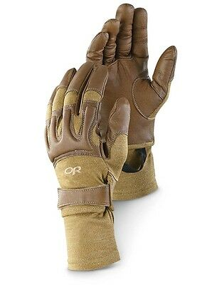 Outdoor Research Mens 2XL Rockfall Combat Gloves with Nomex Coyote Brown New