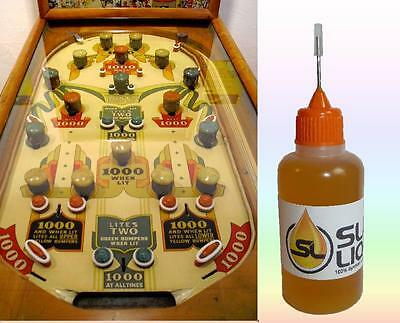 BEST Synthetic Oil For Vintage Pinball Machines READ Slick liquid Lube Bearings
