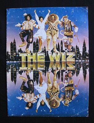 THE WIZ 1979 Original movie programme Diana Ross Michael Jackson Richard Pryor