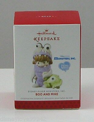 Hallmark CHRISTMAS Ornament Monsters Inc. Precious Moments Porcelain Boo & Mike