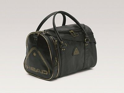 HEAD St Moritz Faux leather black/gold holdall