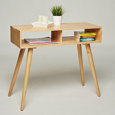 Console Dressing Table Desk Solid Natural Pine Retro Sideboard Hallway Dresser