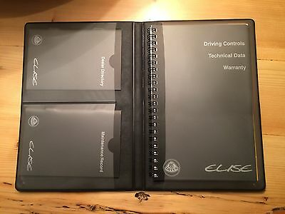 Lotus Elise Series 1 Handbook Manual Service Book Pack Dealer Wallet BRAND NEW