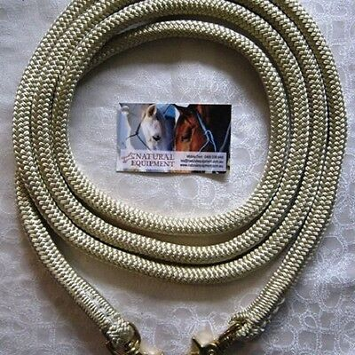 Clip On Rope Reins in Beige- Your choice of length & clip - by Natural Equipment