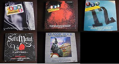 NOW THATS WHAT I CALL MUSIC 6 /12 & X111 plus Soft Metal /Classic Rock -VINYL LP