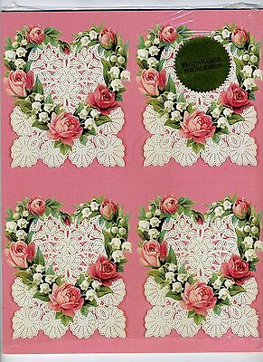 1999 US Victorian Love Roses and Lace Postal Card Set, UX300a, Sale price=$6.95