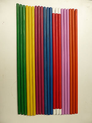 35 x Coloured Wooden Dowel Rods