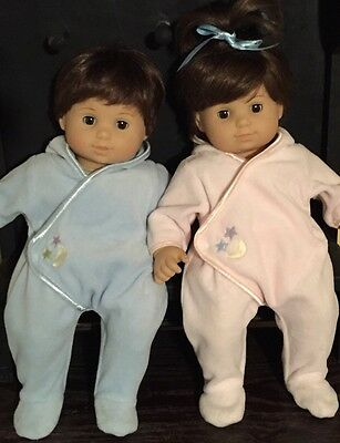 American Girl Pleasant Co Bitty Baby Twins Brunette Hair Brown  Eyes Boy Girl