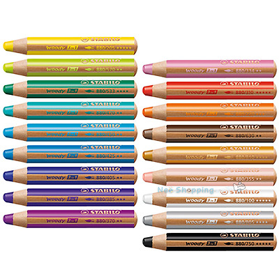 STABILO Woody 3 in 1 Multi Talent Pencil Crayon - for  dailybiscuit