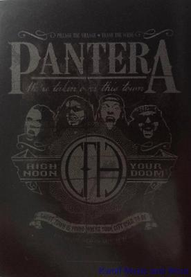 """PANTERA Rock flag/ Tapestry/ Fabric Poster  """"High Noon Your Doom""""     NEW"""