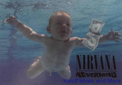 """NIRVANA Rock flag/ Tapestry/ Fabric Poster    """"Nevermind""""     NEW"""