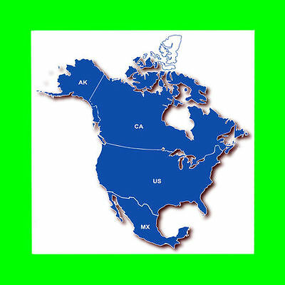 North America Map for Garmin GPS Devices.