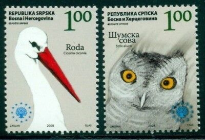 Bosnia (Serb Admin) Scott #341-342 MNH 2008 Animals Fauna CV$4+