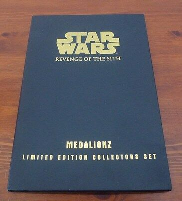 Star Wars Revenge of the Sith Medalionz Limited Edition of 2,000 Collectors Set.
