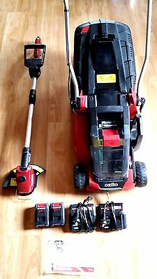Ozito 18V Cordless Lithium - ion Lawn Mower and Grass Trimmer Kit