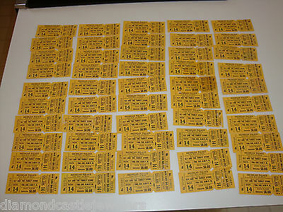 LOT OF 48 SLY AND THE FAMILY STONE 1974 UNUSED CONCERT TICKETS Detroit Michigan