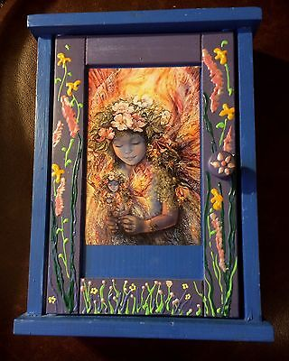 Fairy Floral Wood Wall Mount Freestand Key Cabinet Storage Jewelry Box  Magcial