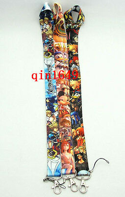 10pcs/lot Kingdom Hearts Mobile Phone LANYARD Neck Strap Charms Card ID Holder