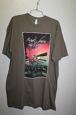 Roger Waters T-shirt The Wall Live 2012 Tour Pink Floyd Black Unisex XL  Green