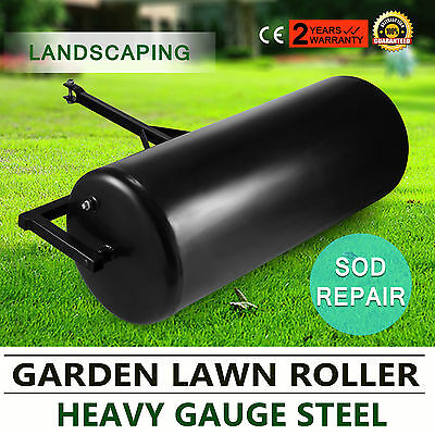 Versatile Garden Push/Tow Lawn Roller Leveling Water Filled Gauge Steel UPDATED