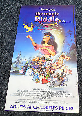 Yoram Gross The Magic Riddle DAYBILL FILM MOVIE POSTER Animation RARE VINTAGE