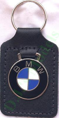 BMW Keyring Key Ring - badge mounted on a leather fob