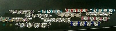 Bling crystal diamante dressage Stock Pins made in your choice of colours.