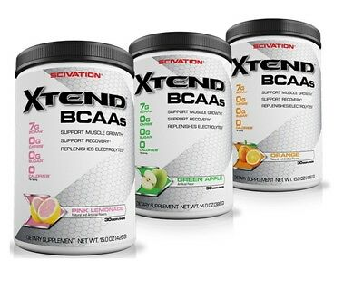 Scivation Xtend - 30 Servings - Bcaa Intraworkout Amino Acid Powder Drink Shake