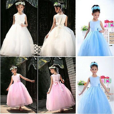 Elegant Girl's Formal Wedding Bridesmaid Christening party dress