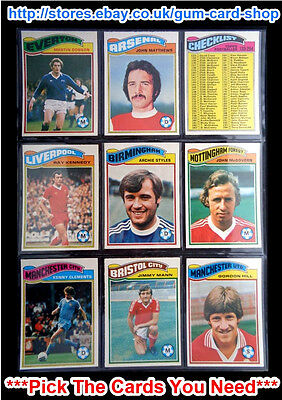 Topps 1978 Football Orange Back Cards 217 To 270 (Vg) *Please Choose Cards*