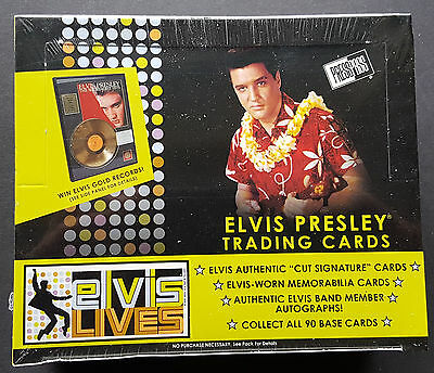 Elvis lives Trading Card Box, Sealed OVP 24-Pack Box Elvis Presley
