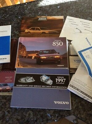 97 1997 Volvo 850 owners manual, OWNER'S GUIDE BOOK WITH CASE, FREE SHIPPING