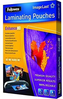 Fellowes Enhance A5 80 Micron Laminating Pouches (Pack Of 100)