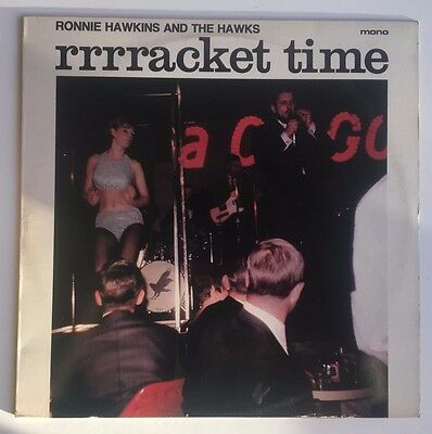 RONNIE HAWKINS & HAWKS rrrracket time VINY LP - UK CR30180 / 1979 / ROCK & ROLL