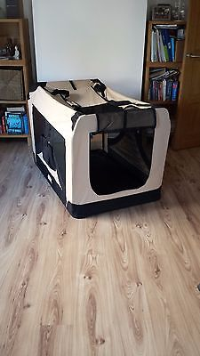 Dog Pet Puppy Fabric Portable Carrier Crate Large Kennel Bag Cage Fold Travel