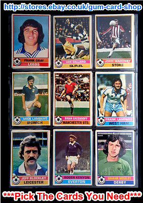 Topps 1977 Football Red Back Cards 1 To 100 (F) *Pick The Cards You Need*