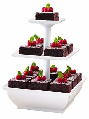 NEW Wilton 307-108 3 Tiered Serving Stand Snack Cakes 3 Tier NIB Party Decor